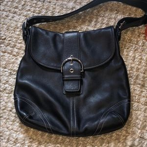 Black coach purse - never used